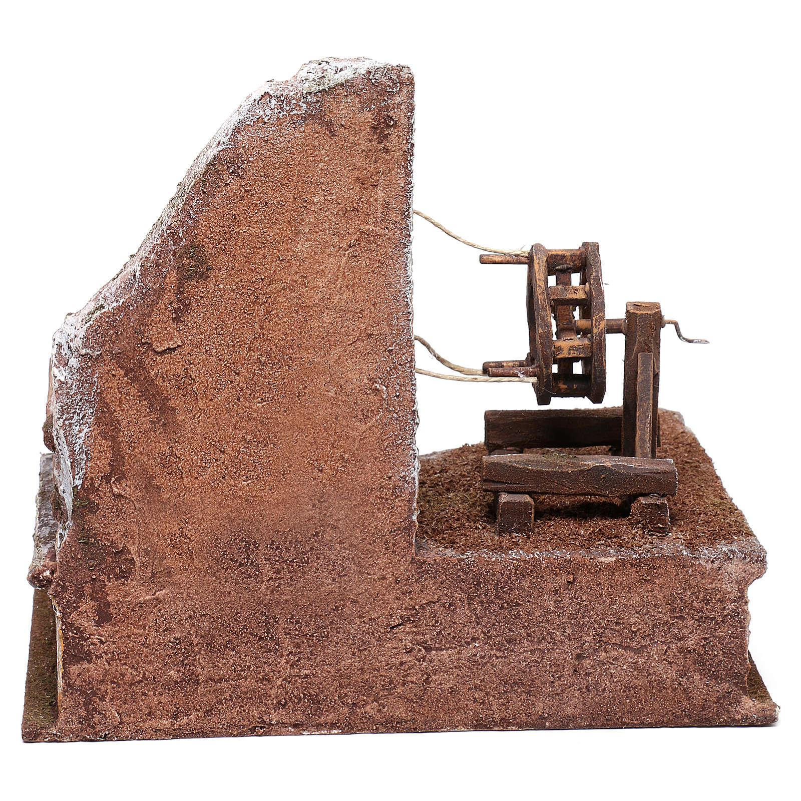 Ambientazione cordaio 15x20x20 cm per presepe di 10 cm  4