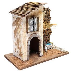 Casolare con fontana e pecora presepi 11 cm s3