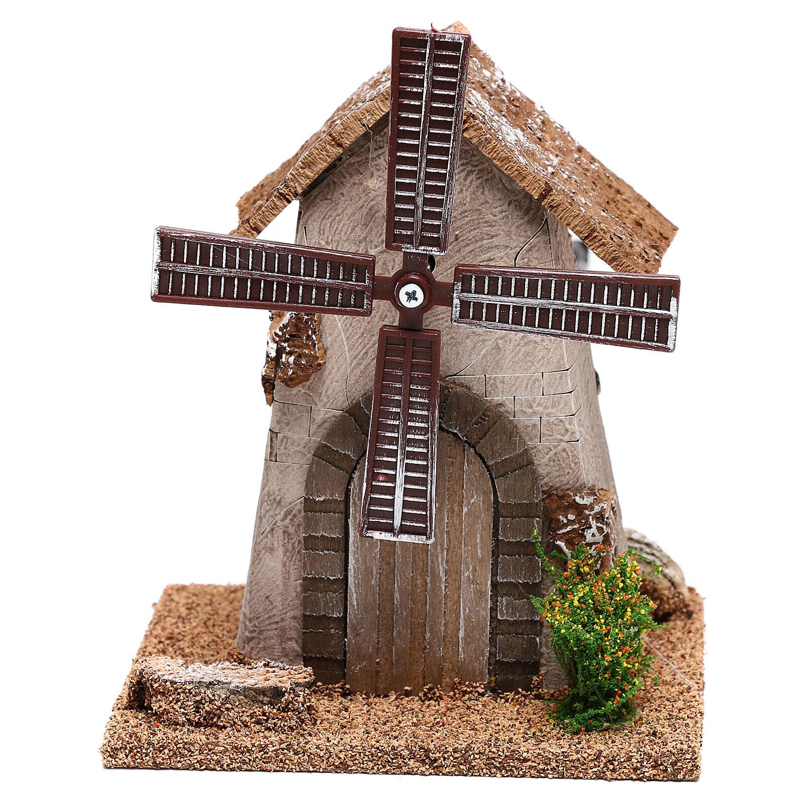 Windmill 20x15x10 cm, for 4-6 nativity 4