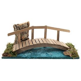 Puente con barandilla 10x25x10 cm ambientación belén 6-8 cm s1