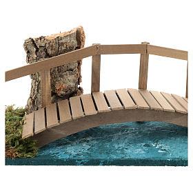 Puente con barandilla 10x25x10 cm ambientación belén 6-8 cm s2