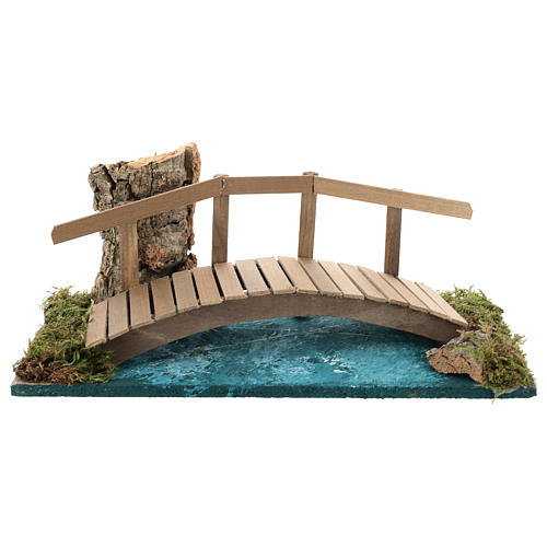 Pont avec rambarde 10x25x10 cm décor crèche 6-8 cm 1