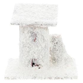 Set 4 casitas nevadas 10x10x10 cm belén 3-4 cm s1