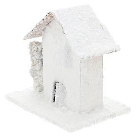 Set 4 casitas nevadas 10x10x10 cm belén 3-4 cm s3