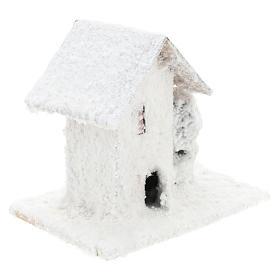 Set 4 casitas nevadas 10x10x10 cm belén 3-4 cm s4