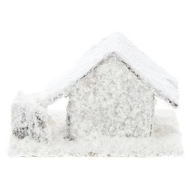 Set 4 casitas nevadas 10x10x10 cm belén 3-4 cm s5