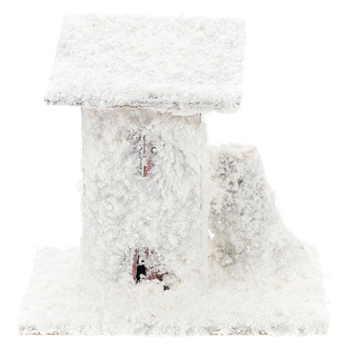Set 4 casitas nevadas 10x10x10 cm belén 3-4 cm 1