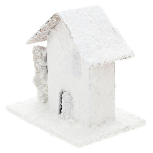 Set 4 casitas nevadas 10x10x10 cm belén 3-4 cm 3