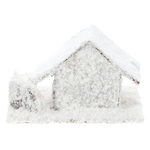 Set 4 casitas nevadas 10x10x10 cm belén 3-4 cm 5