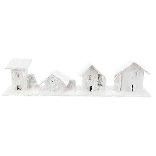 Set 4 casette innevate 10x10x10 cm presepe 3-4 cm 2