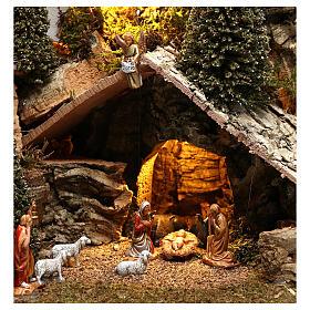 Nativity village with snow 20x25x20 cm, 3-4 cm nativity s2