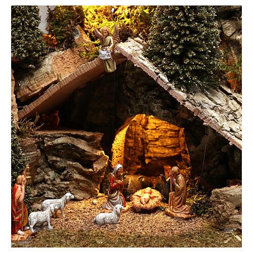 Nativity village with snow 20x25x20 cm, 3-4 cm nativity 2