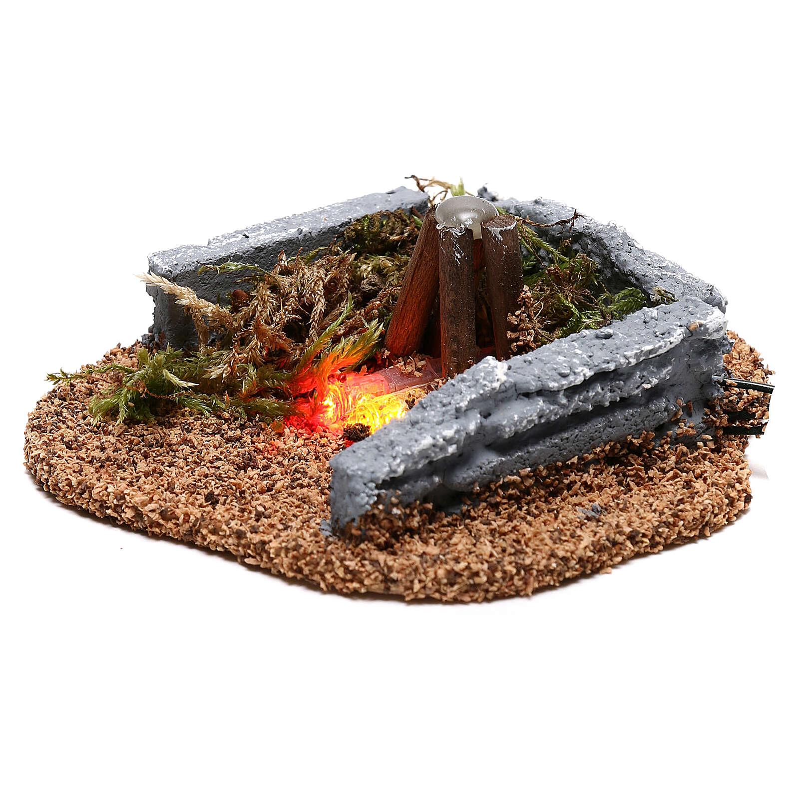 Mini campfire LED 5x10x10 cm, 8-10 cm nativity 4