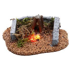 Mini campfire LED 5x10x10 cm, 8-10 cm nativity s1