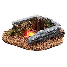 Mini campfire LED 5x10x10 cm, 8-10 cm nativity s2