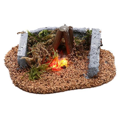 Mini campfire LED 5x10x10 cm, 8-10 cm nativity 1
