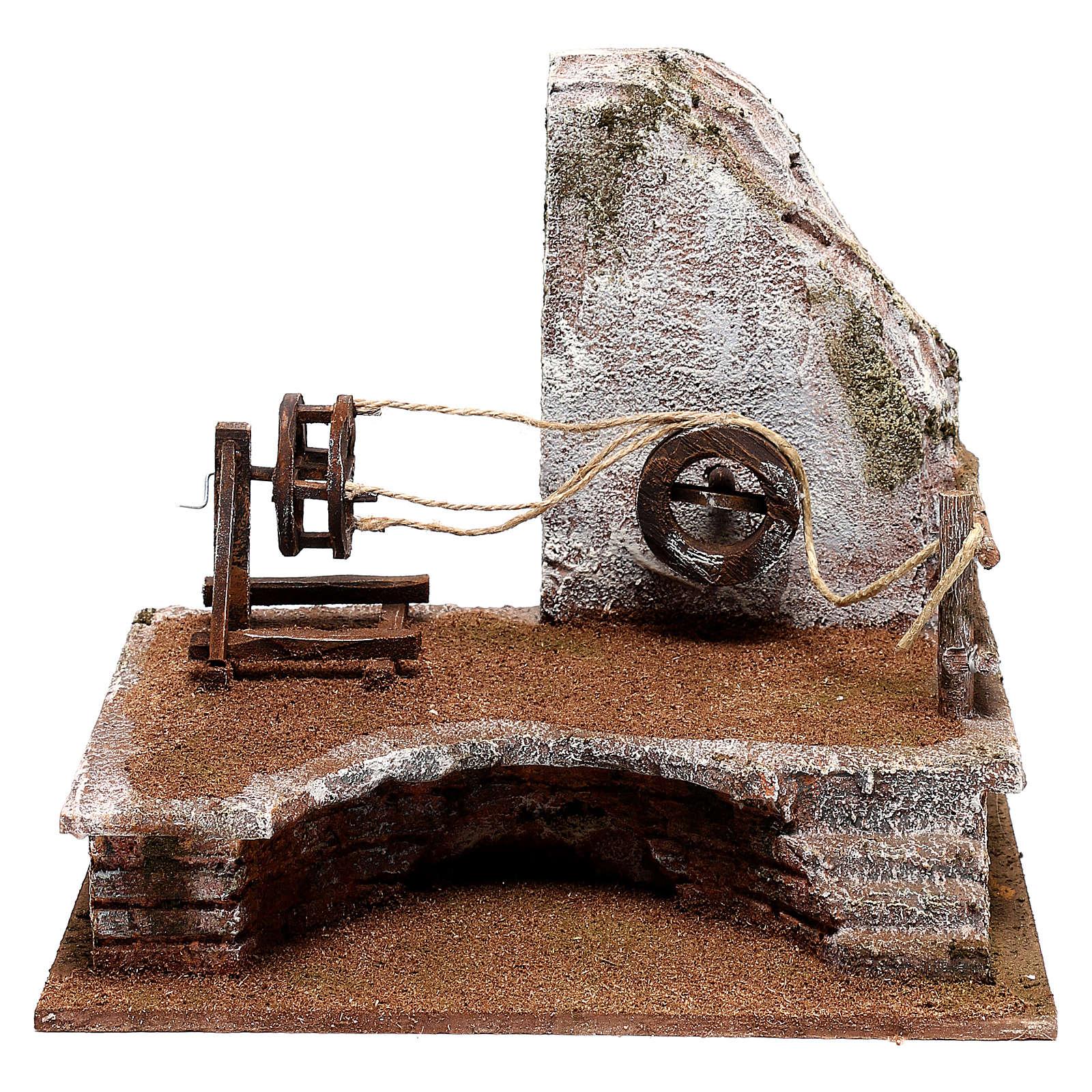 Décor cordier avec échelle crèche 12 cm 4