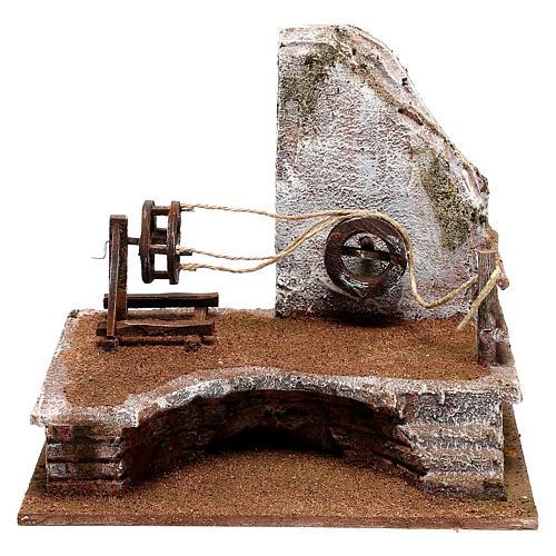 Décor cordier avec échelle crèche 12 cm 1