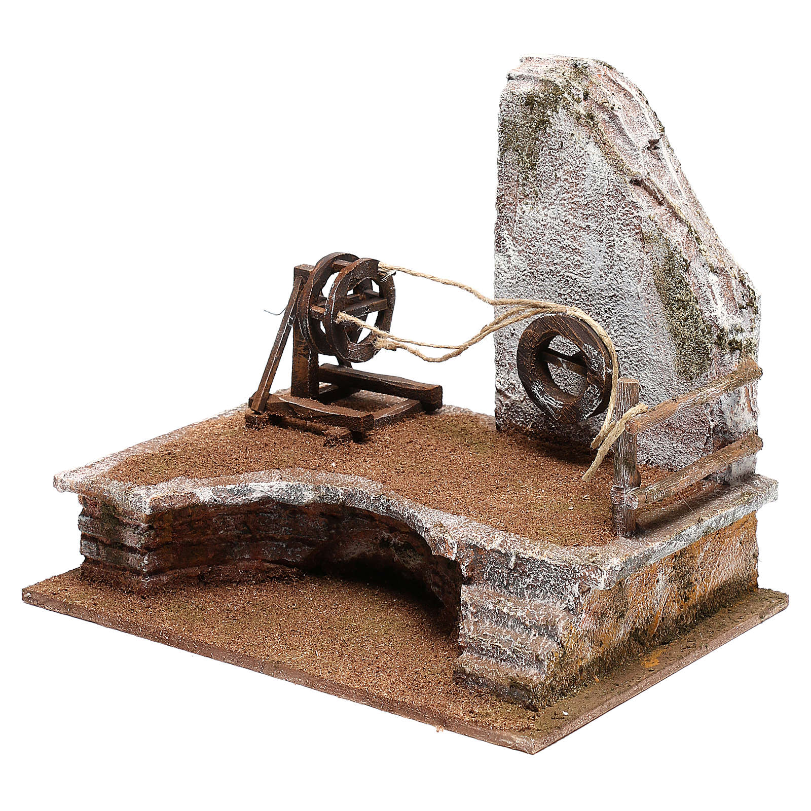 Ambientazione cordaro con scaletta presepi 12 cm 4