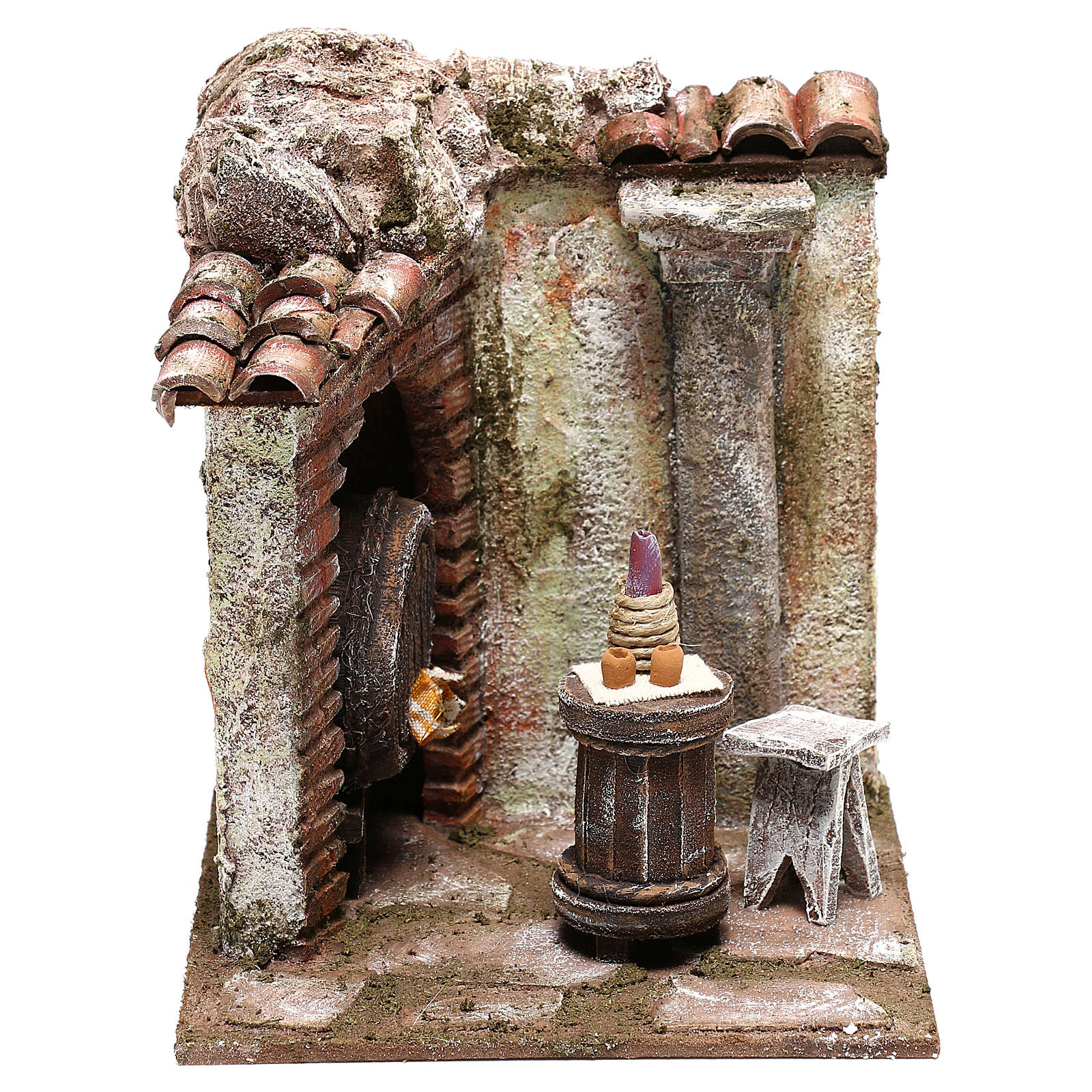 Inn 15x15x15 cm for Nativity scenes 10 cm 4