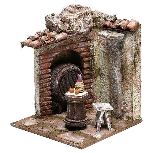 Décor taverne 15x15x15 cm pour crèche 10 cm 2