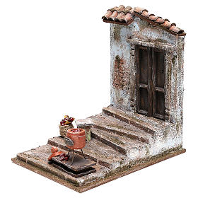 Chestnut seller setting 25x20x20 cm for Nativity scenes 12 cm s2
