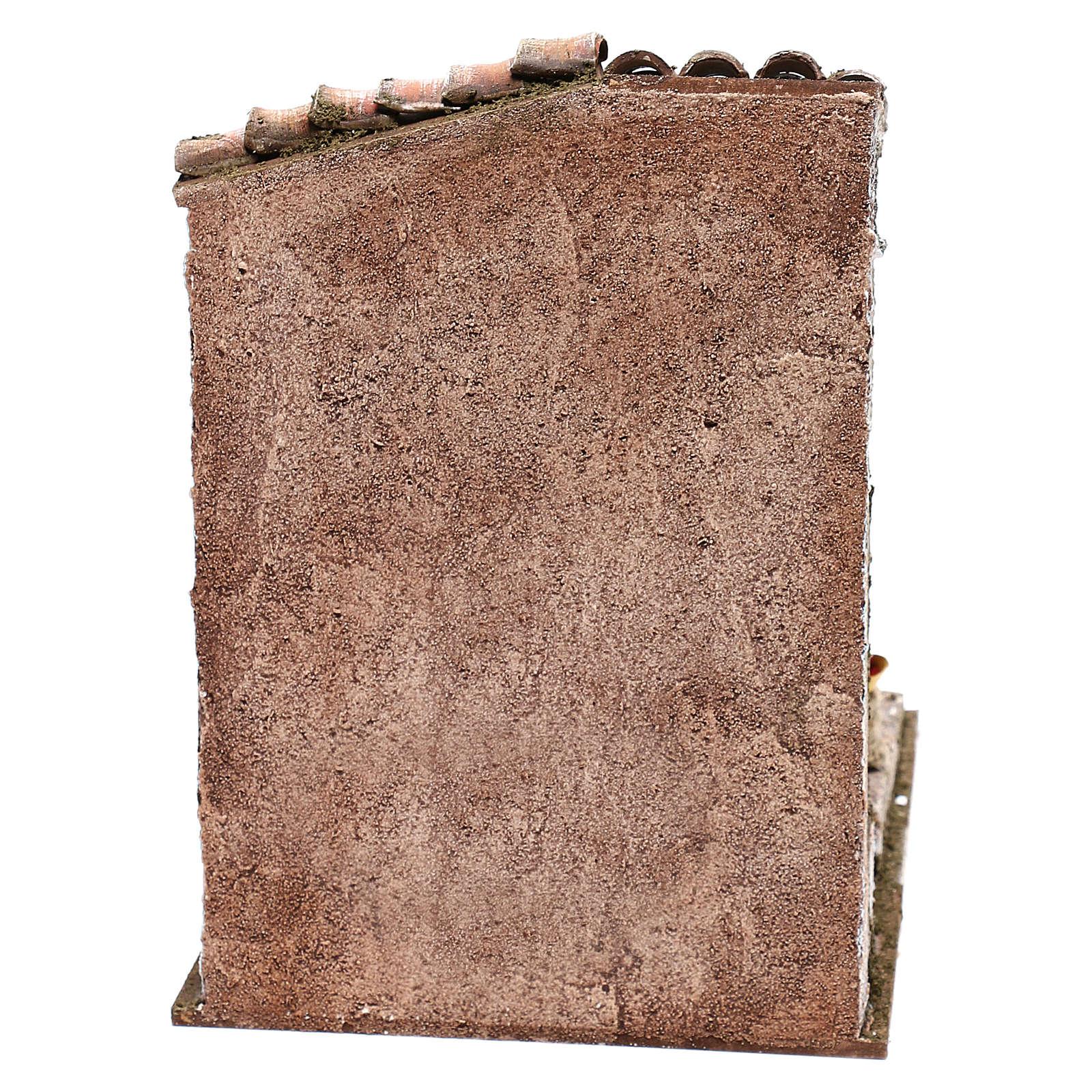 Décor vendeur de châtaignes 25x20x20 cm pour crèche de 12 cm 4
