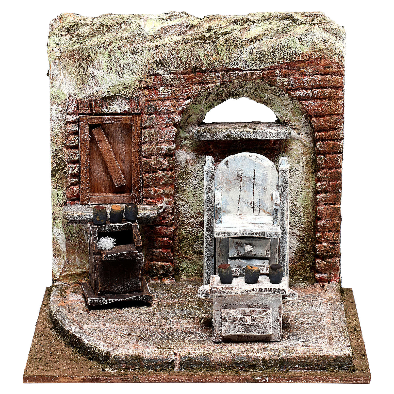 Setting for shoe shine 20x20x15 cm Nativity scenes 10 cm 4