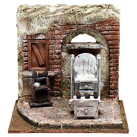 Setting for shoe shine 20x20x15 cm Nativity scenes 10 cm s1