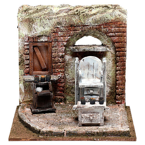 Setting for shoe shine 20x20x15 cm Nativity scenes 10 cm 1