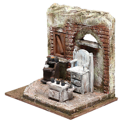 Setting for shoe shine 20x20x15 cm Nativity scenes 10 cm 2