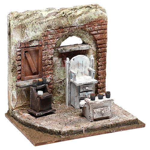 Setting for shoe shine 20x20x15 cm Nativity scenes 10 cm 3