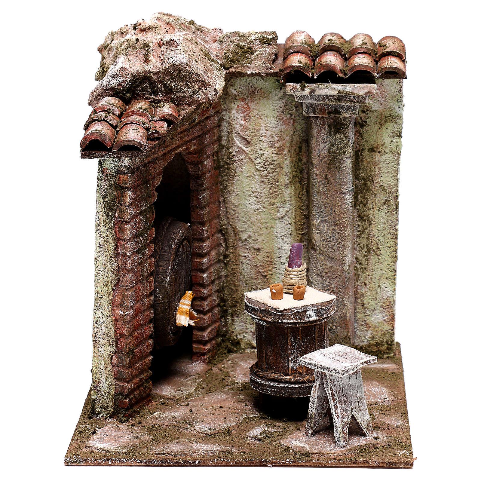 Inn 20x20x20 cm for Nativity scenes 12 cm 4