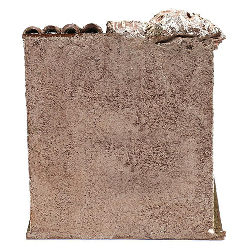 Scena osteria 20x20x20 cm per presepi 12 cm 4