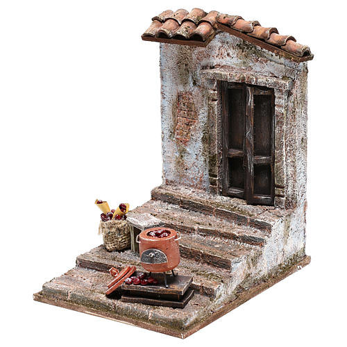 Staircase with chestnut pot Nativity Scene 10 cm 2