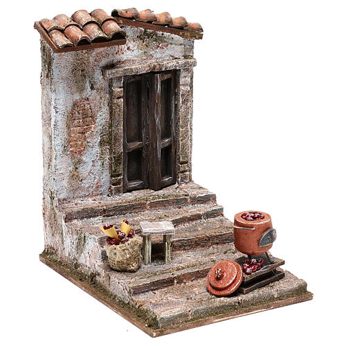 Staircase with chestnut pot Nativity Scene 10 cm 3
