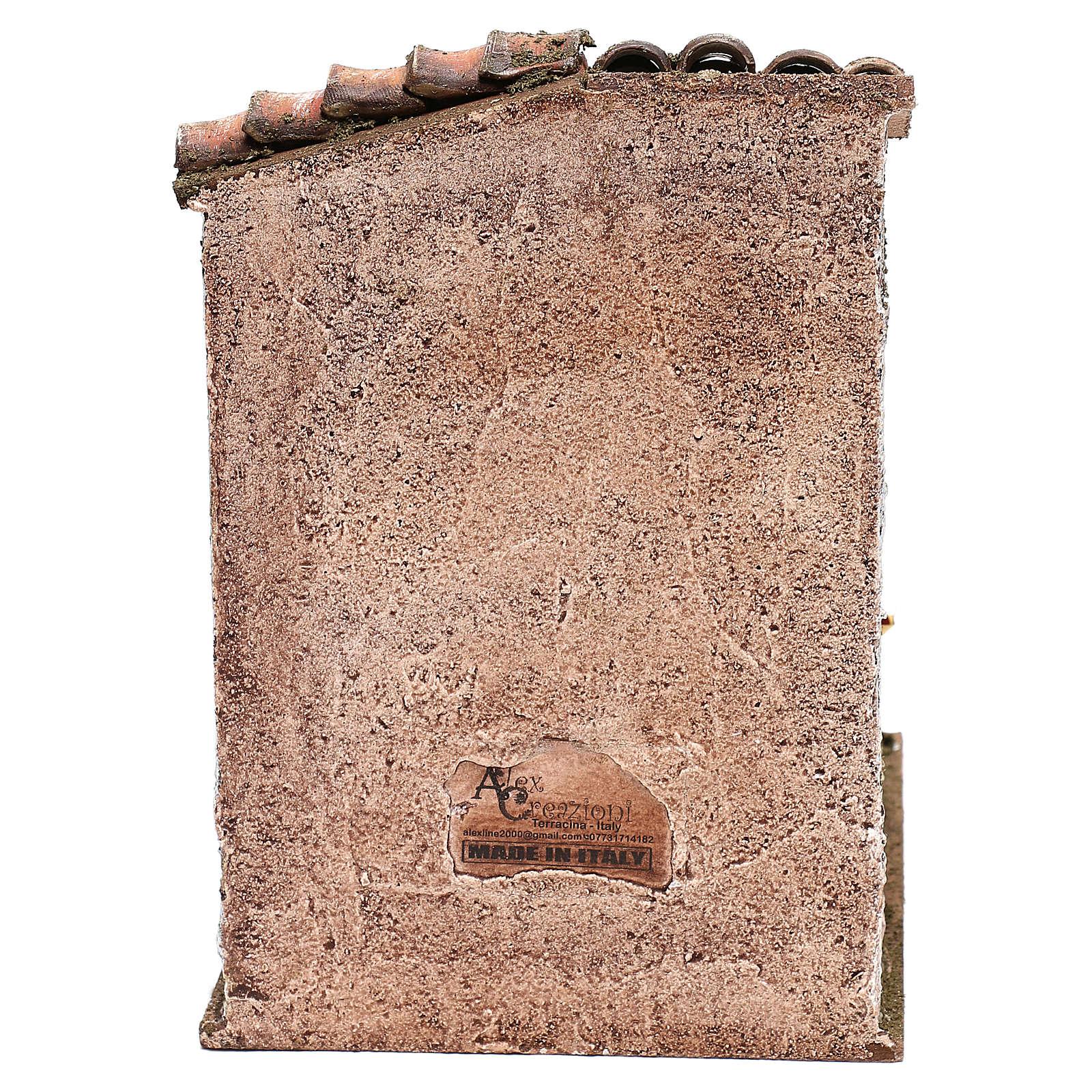 Scena scalinata con pentola castagne presepi 10 cm 4