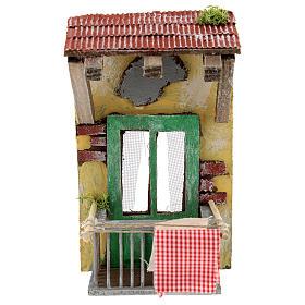 Balcone con tettoia per presepe napoletano di 12 cm s1