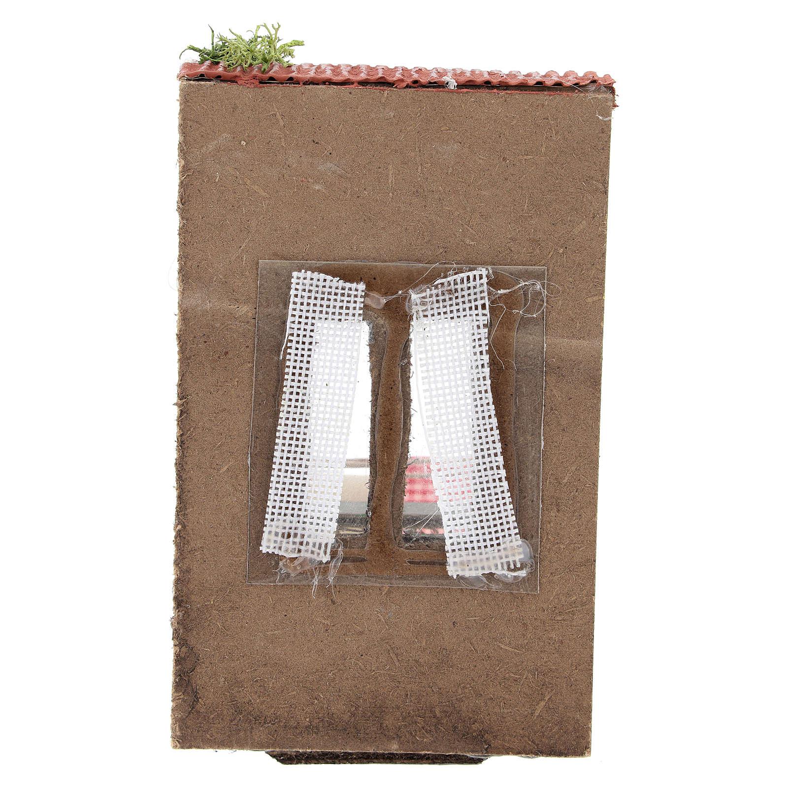 Balcón con ropa para belén napolitano de 10 cm 4