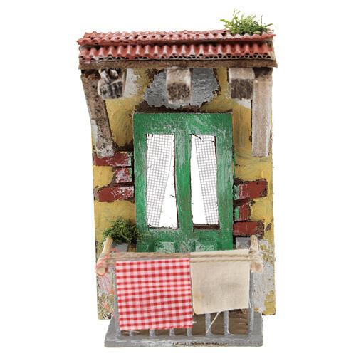 Miniature balcony with clothesline, for 10 cm Neapolitan nativity 1