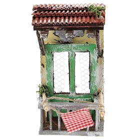 Balconcino con tettoia per presepe napoletano di 6-8 cm s1