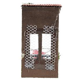 Balconcino con tettoia per presepe napoletano di 6-8 cm s4