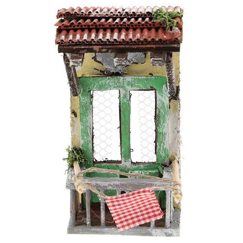 Balconcino con tettoia per presepe napoletano di 6-8 cm 1
