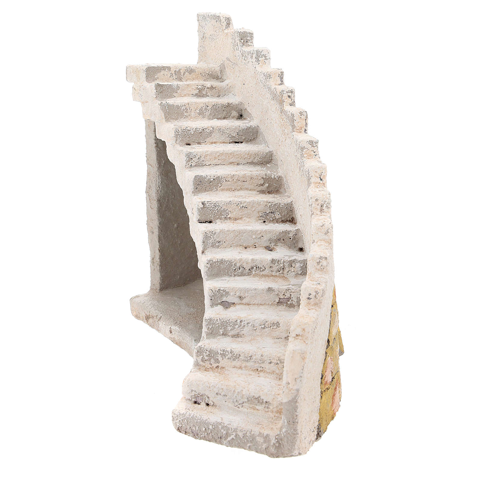 Curved staircase for Neapolitan Nativity Scene of 8 cm 4