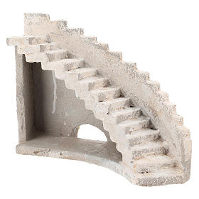 Curved staircase for Neapolitan Nativity Scene of 8 cm s3