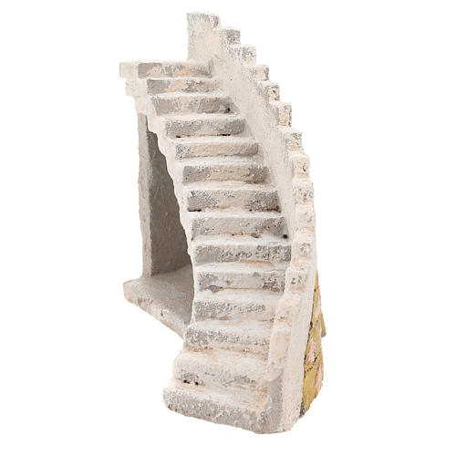Curved staircase for Neapolitan Nativity Scene of 8 cm 1