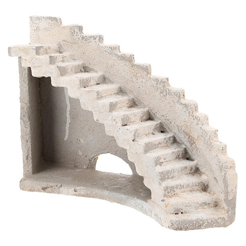 Curved staircase for Neapolitan Nativity Scene of 8 cm 3