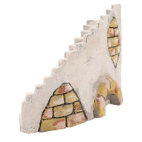 Escalera curva para belén napolitano de 8 cm 2