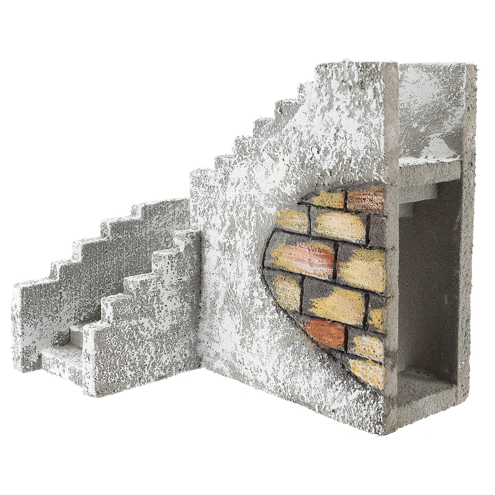 Corner staircase for Neapolitan Nativity Scene of 8 cm 4