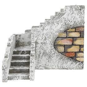 Corner staircase for Neapolitan Nativity Scene of 8 cm s1